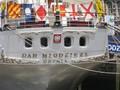 """Heck, polnisches Vollschiff """"Dar Mlodziezy"""""""